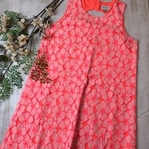 The Children's Place Pink lace sleeveless dress